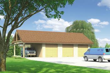 Budynek garażowo-magazynowy z wiatą