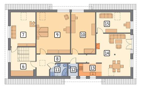 Rzut poddasza POW. 151,7 m²