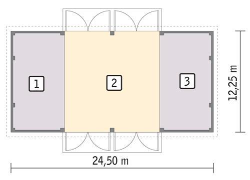 Rzut parteru POW. 280,5 m²