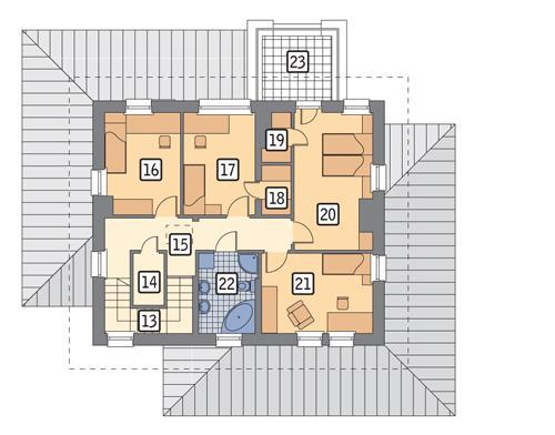 Rzut piętra POW. 84,9 m²